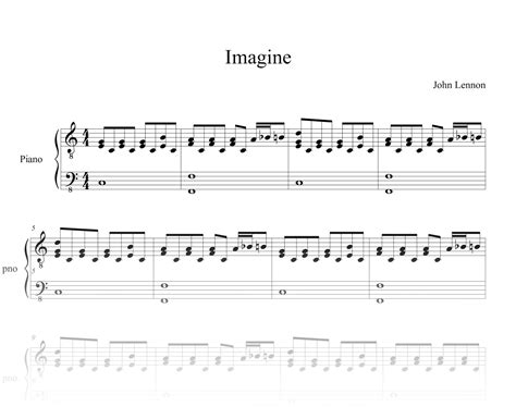 tutorial piano john lennon imagine keysynth john lennon imagine partitura piano