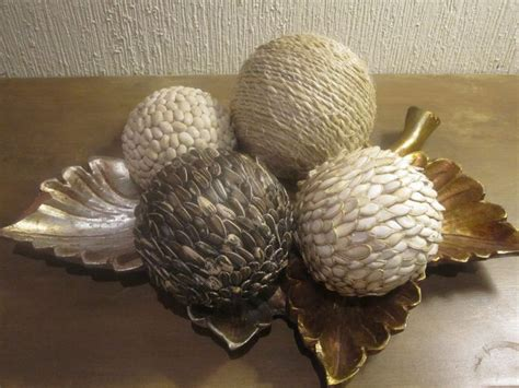 imagenes de adornos otoñales manualidades bolas con semillas utimujer