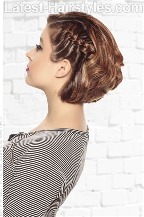 wedding bob hairstyles sles design photos inspirations graduated bobbed hair with braid side hair inspiration