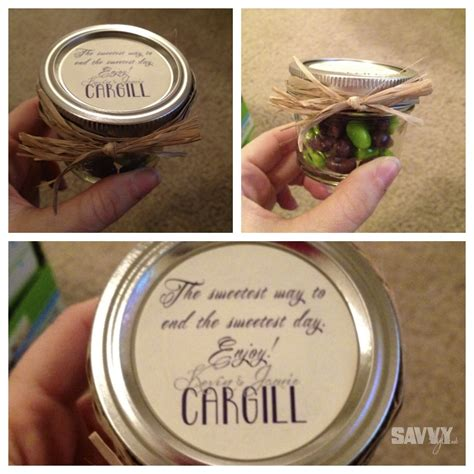 Mason Jar Wedding Giveaways - simple and inexpensive diy wedding favors mason jar treats savvy style