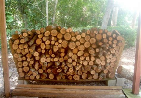 build firewood rack for stacking firewood rack using no tools with pictures