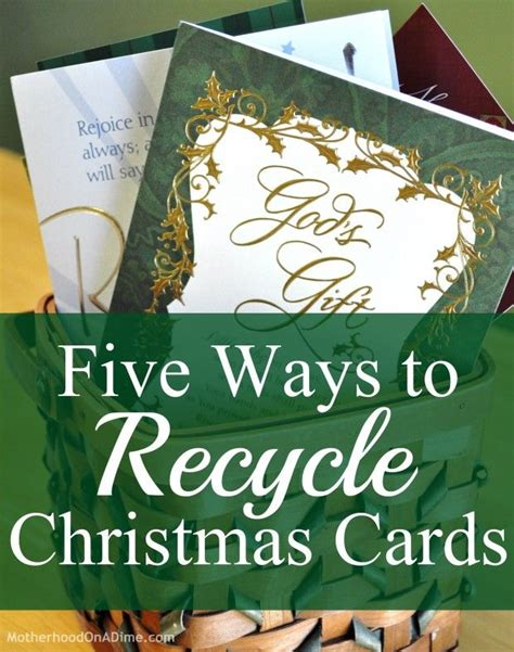 Recycling Cards - ideas for ways you can reuse craft or recycle your