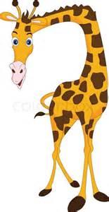 cute giraffe cartoon stock vector colourbox