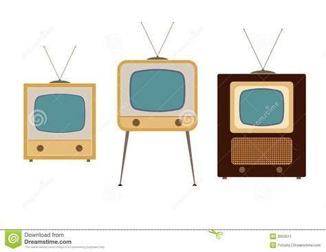 Fifties Home Decor by Tv Sets From The 1950s Stock Image Image 3553011