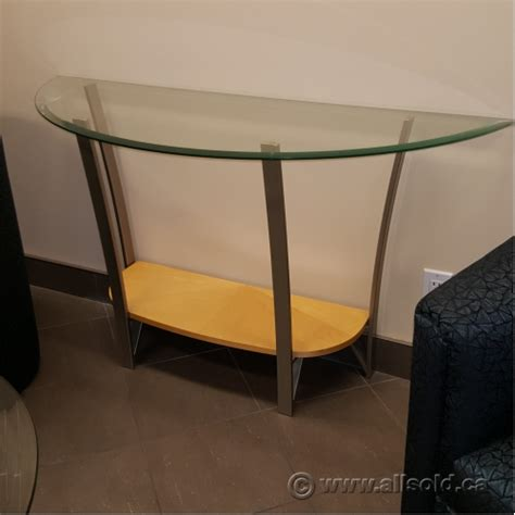 Glass Hallway Table Contemporary Wood And Glass 30 Quot Hallway Table Allsold Ca Buy Sell Used Office Furniture