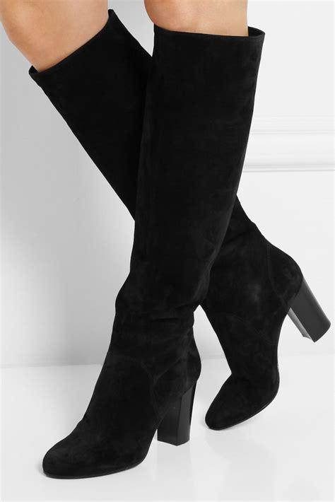 zara black leather knee high boots size uk5 eur38 us7 5 ebay