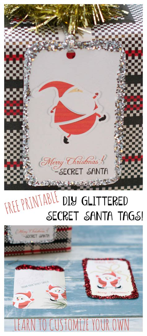 secret santa secret santa tags secret santa printable tags