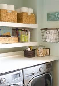 Laundry Room Shelves And Storage Diy Floating Shelves Laundry Room Four Generations One Roof