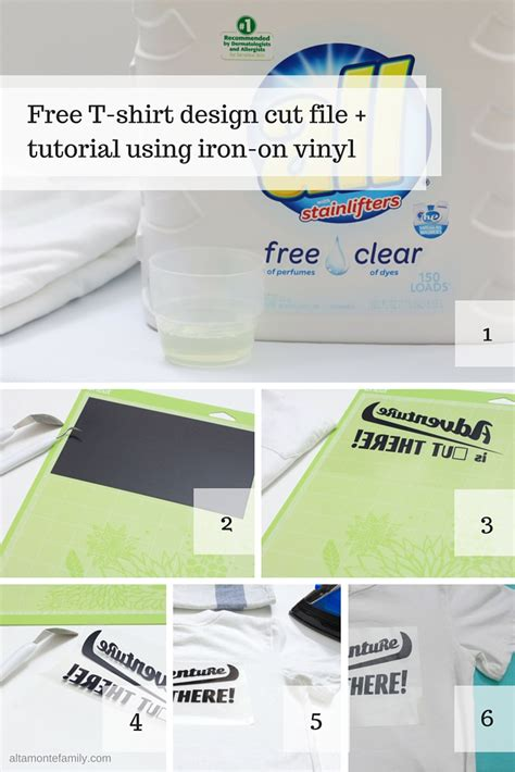 how to use cricut printable iron on vinyl iron on vinyl tutorial free cut file adventure is out