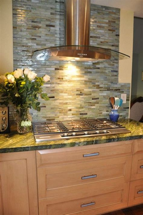 yellow kitchen backsplash ideas glass tile backsplash green blue shiny w oak yellow wall
