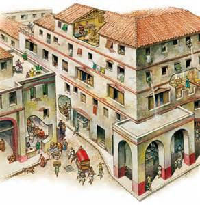 rome homes in ancient and cities whole blocks of housing
