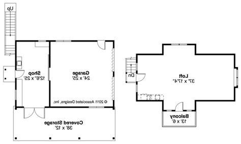 Garage With Loft Floor Plans by Craftsman House Plans 2 Car Garage W Loft 20 077