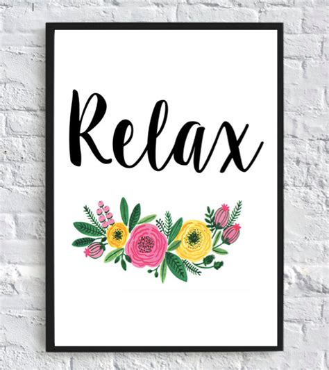 free printable wall art 8x10 printable relax printable wall art 8x10 by printablesbyhelen