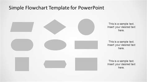 easy flow chart template simple flowchart template for powerpoint slidemodel