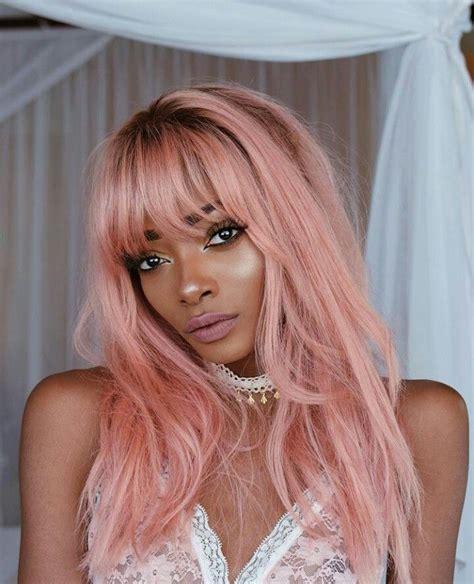 pin  shania   nyane lebajoa hair pastel pink hair