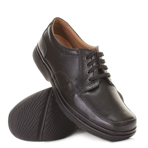 comfortable walking shoes for work clarks mens black swift mile wide h fit leather