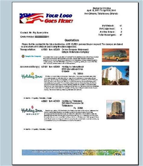 travel agent invoice sample