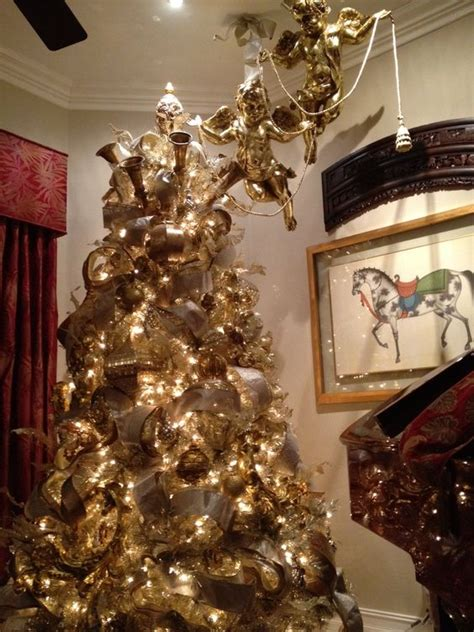 gold christmas tree exquisite professional christmas decor