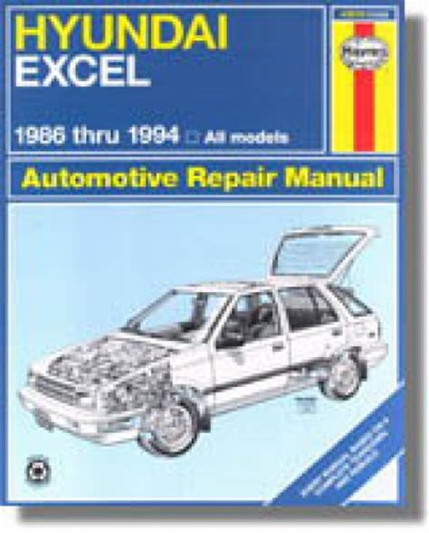 auto repair manual free download 1994 hyundai excel instrument cluster haynes hyundai excel accent 1986 1994 auto repair manual