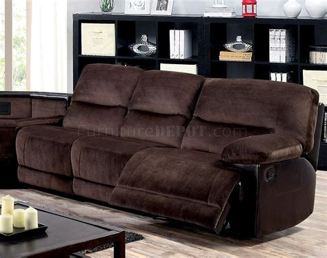 brown microfiber sofa glasgow reclining sectional sofa cm6822 in brown microfiber