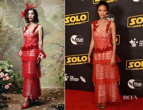 Catwalk To Carpet Thandie Newton Carpet Style Awards by Thandie Newton In Rodarte A Wars Story