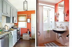 Orange and brown accents in the kitchen future home ideas pintere