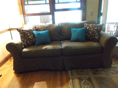 sofa slipcover with contrast welt for the home