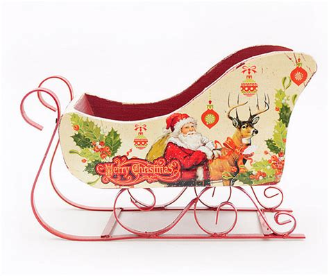 2015 christmas gift sleigh car wholesale christmas craft