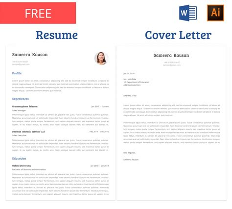 75 Best Free Resume Templates For 2018 Updated Free Matching Cover Letter And Resume Templates