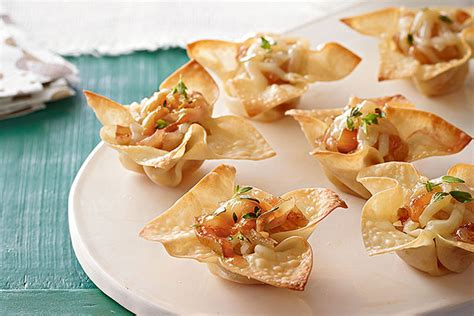 savory cheese onion appetizer cups kraft recipes