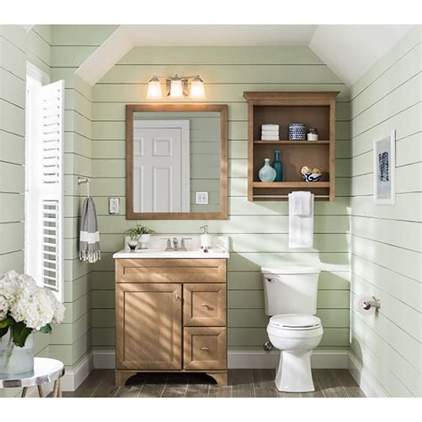 shop diamond freshfit britwell 25 in x 34 in cream hanbury wooden bathroom wall cabinets