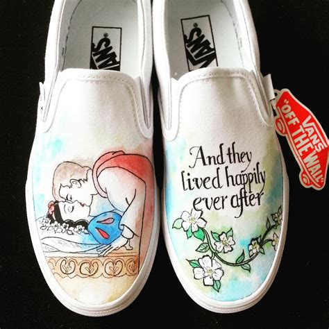diy disney shoes disney snow white and prince charming happily after