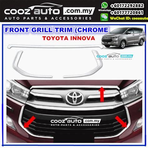 All New Innova Mirror Pillar Cover Chrome Aksesoris Toyota Innova toyota innova 2016 2017 front grille grill frame chrome