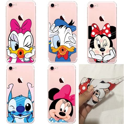 Minnie Mickey Mouse Stitch Softcase Cover For Iphone 7 Plus get cheap stitch iphone 5 aliexpress