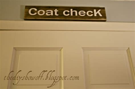 Signs Of A Closet by Coat Check Sign Diy Decorating Ideas Coats