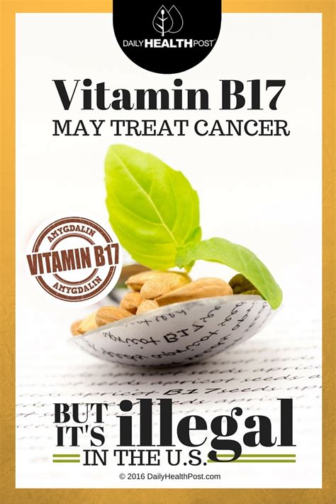 Vitamin B17 Vitamin B17 May Treat Cancer But Is Illegal In The U S