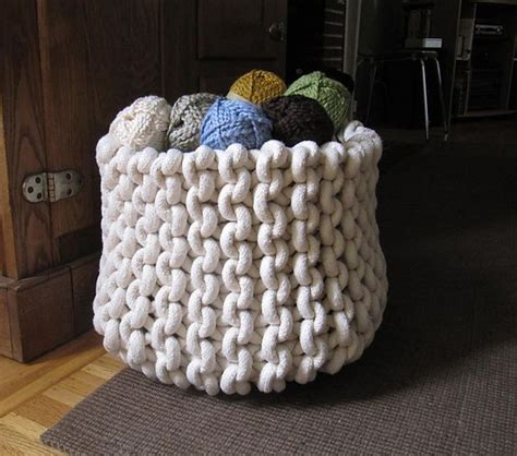 knitted basket pattern knit rope basket pattern by cara corey the giants