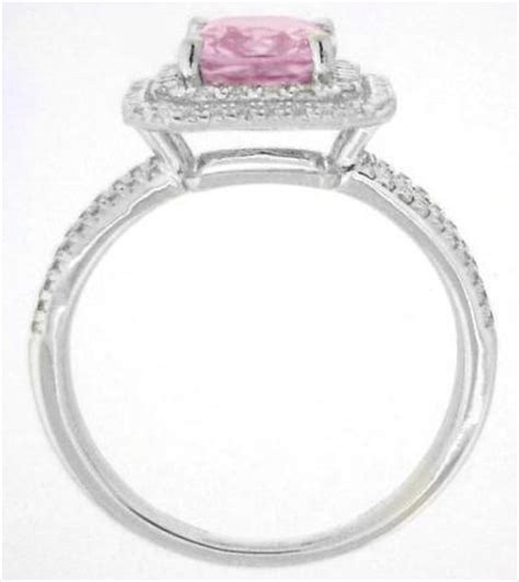 2 carat radiant cut light pink sapphire and