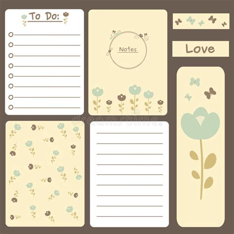 printable journal notes cute romantic printable journal cards notes to do list