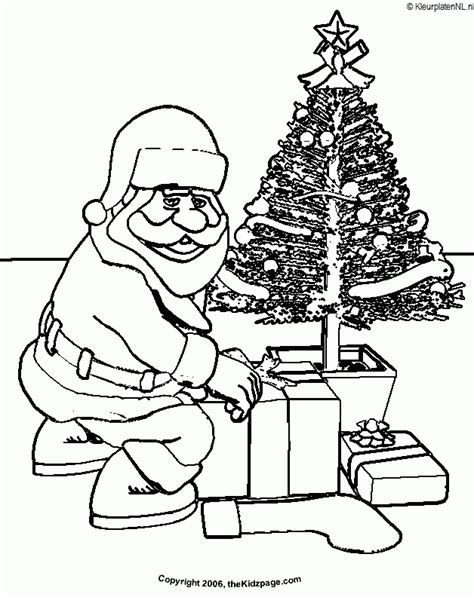 Kerstman Kleurplaat Kleurplaten 2580 Kleurplaat Kleuren Net Santa Claus And Tree Coloring Pages