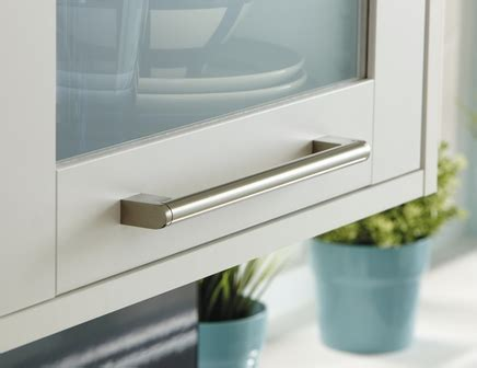 Nickel Effect bar handle   Kitchen handles   Howdens Joinery