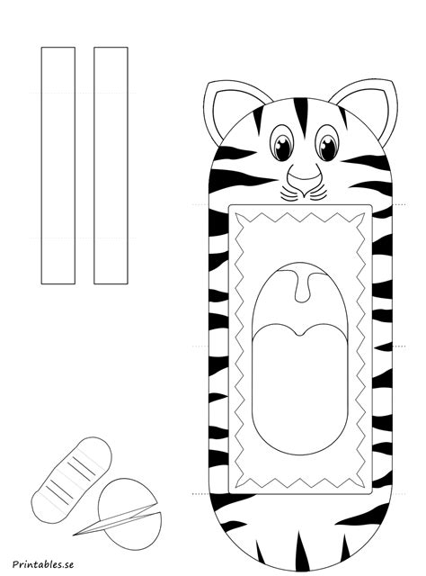 tiger puppet template puppet tiger free printable