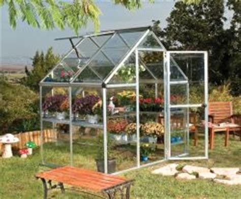 palram harmony    greenhouse silver frame clear panels