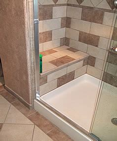 bathroom shower with seat small bathroom remodeling fairfax burke manassas remodel