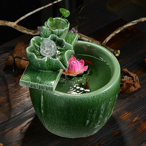 home decoration gifts celadon water fountain lucky feng shui home decor gifts