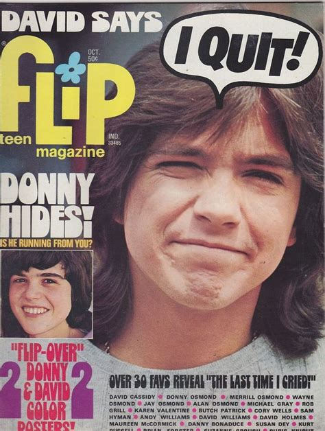 school teenage girls vintage magazine oct 1972 flip vintage teen magazine donny osmond