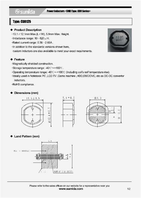 cdr125np 220mc 4386933 pdf datasheet ic on line