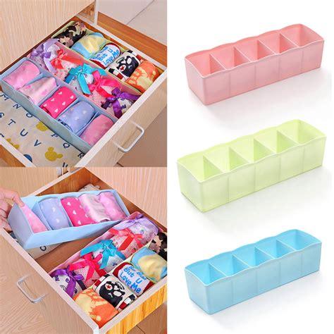 underwear organizer multifunctional diy plastic 5 cells storage box underwear