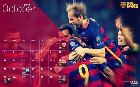 Barcelona Calendar Calendar 2015 October Fc Barcelona