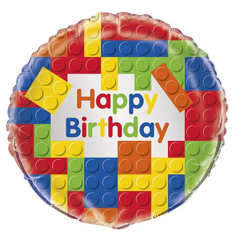 happy birthday lego design lego helium balloon